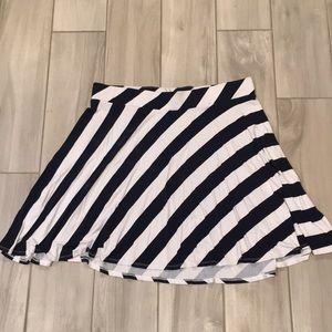 NY&Co navy and white skirt XL